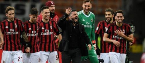 Gattuso e il Milan: esultanza a San Siro