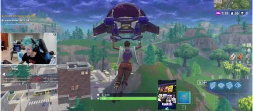 Pro-gamer Ninja streaming 'Fortnite.' - [Ninja / YouTube screencap]