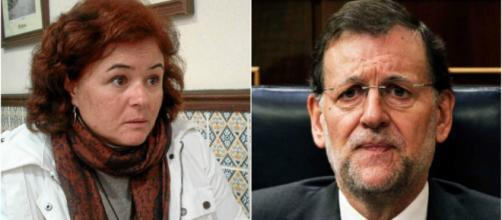 Ruth Ortiz y M.Rajoy en imagen