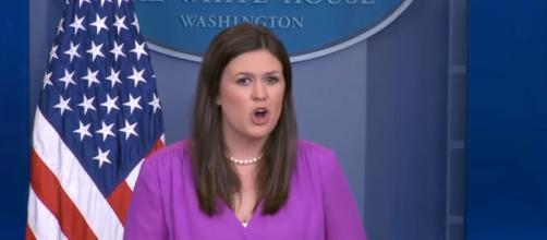 Sarah Huckabee Sanders at the White House, via YouTube