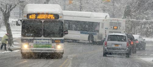 Snowstorm in New York City in 2013 (Image credit - Marc A. Hermann, Wikimedia Commons)