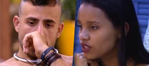 Kaysar e Gleici sonham com o prêmio de R$ 1,5 milhão no BBB18
