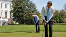 Barack Obama is unwinding in New Zealand with golf and old friends