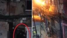 Vídeo mostra policial sendo carregado por companheiro de farda após ser atingido