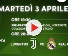 Il promo della partita di Champions League in onda su Canale 20