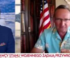 Wojciech Cejrowski był gościem TVP Info.