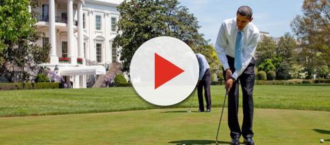 President Barack Obama plays golf with vice President Joe Biden (Image edit - Pete Souza, Wikimedia Commons)