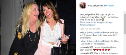 Kelly Dodd shared a photo of her and Shannon Beador out in LA on March 7th. (Image: Instagram/Kelly Dodd)