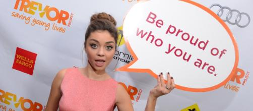 Sarah Hyland at an event in Los Angeles. (Image: Flickr: The Trevor Project)