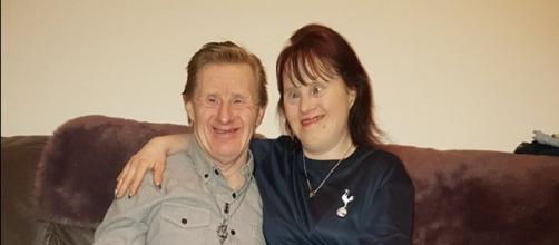 Tommy and Maryanne Pilling share 23 years together, Tommy's 60th birthday, and socks for World Down Syndrome Day. - [Maryanne and Tommy/Facebook]