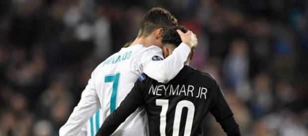 Cristiano e Neymar se reencontraram recentemente