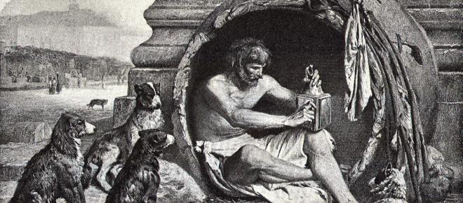 """Diogenes von Sinope : """"Der Hund"""" zwischen Intelligenz und Verrücktheit ?"""