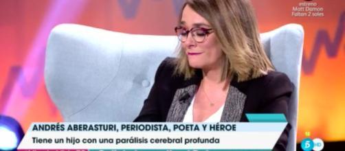 Las lágrimas de Toñi Moreno por el hijo de Andrés Aberasturi - lecturas.com