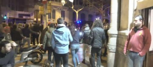 Serios disturbios en Barcelona