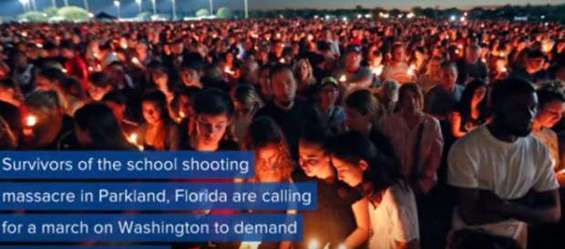 March for our lives takes place on Saturday March 24. - [Image via ABC News / YouTube screenshot]