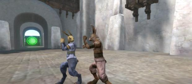 Overgrowth offers many Ninja Rabbit opportunities. [image source: Pitstop Head2/YouTube screenshot]