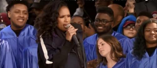 Jennifer Hudson closed the March for Our Lives with a moving performance calling for change.[Screencap WUSA/YouTube]