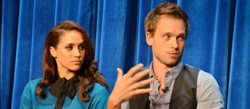 Meghan Markle with co-actor of 'Suits' (Image credit – Genevieve, Wikimedia Commons)
