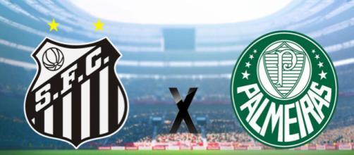 Santos e Palmeiras se enfrentam a partir das 19h deste sábado, dia 24, no Pacaembu.