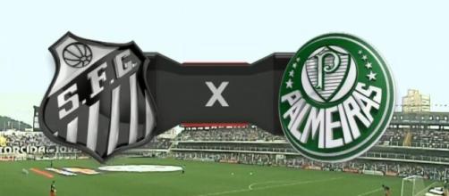 Santos x Palmeiras ao vivo neste sábado