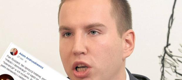 Adam Andruszkiewicz idzie na wojnę z hejterami.
