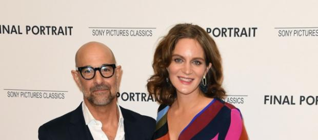 Stanley Tucci's Wife Felicity Blunt Is Pregnant With Baby No. 2 ... - (etonline/Youtube)
