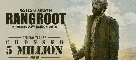Screenshot from trailor of Sajjan Singh Rangroot- (Image credit Speed records-youtube.com)