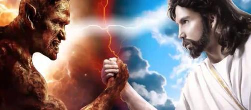 A guerra entre Jesus e Satanás