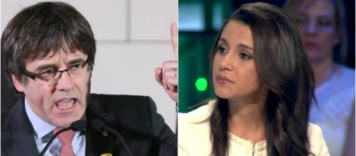 Carles Puigdemont e Inés Arrimadas en imagen