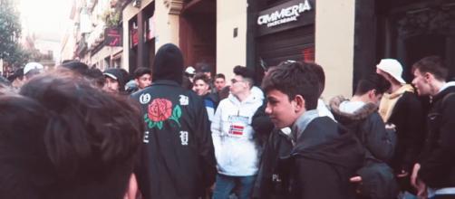 Imagen de una de las quedadas del joven Youtuber ByCalitos