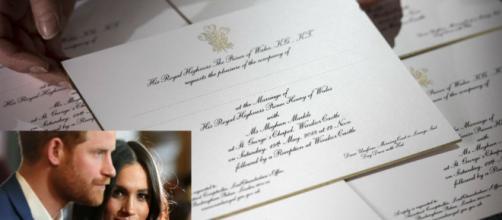 Tarjeta De Invitación Y Pastel De Bodas Del Príncipe Harry Y