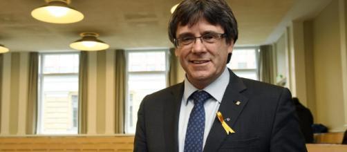 Carles Puigdemont, ex presidente de la Generalidad de Cataluna, España.
