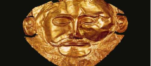 Máscara do rei grego Agamêmnon