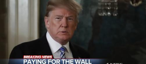 President Doland Trump has stated the US military should fund the wall [Image source: ABCNews/Youtube screenshot]