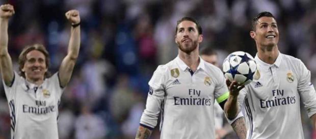As estrelas do Real: Modric, Ramos e Cristiano Ronaldo