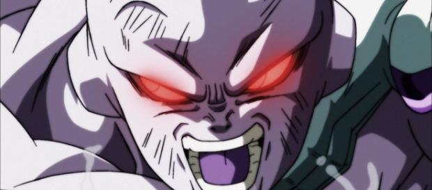 Universe 7 stands up to Jiren in episode 131 of Dragon Ball Super. (Image credit: Toei Animation/Twitter)