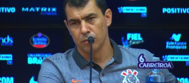 O treinador não gostou nem um pouco. (foto reprodução).