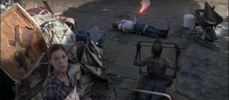 Jadis and Negan (Image via The Walking Dead Updates HD, YouTube screencap)