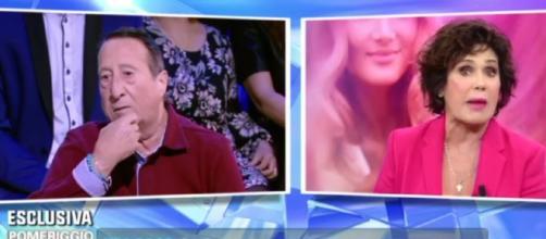 Alvaro Vitali e Corinne Clery a 'Domenica Live' parlano dei problemi economici dei Vip.