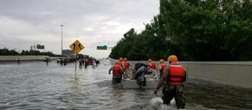 First responders during Harvey [image courtesy Defense Department]