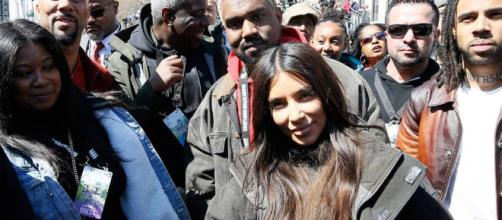 Kim Kardashian and Kanye West Bring North West to March of Our ... - moviemagic.in