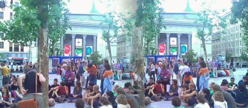 Los estudiantes protestan contra las sentadas en la facultad de derecho y ciencias políticas de la Universidad de Montpellier