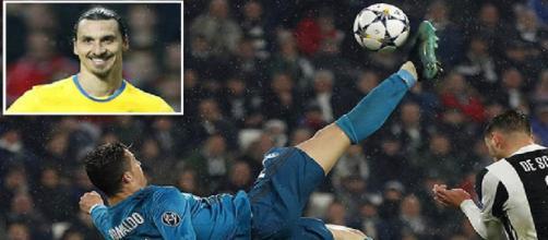 Polêmica envolvendo Ibra e Cristiano Ronaldo movimentam a internet.