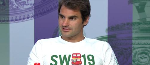 Roger Federer during a press conference at the 2016 Wimbledon/ Photo: screenshot via Wimbledon channel on YouTube
