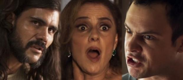 Gael flagra Mariano transando com a mãe em ''O Outro Lado''