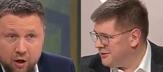 Poseł Kukiz'15 Tomasz Rzymkowski w starciu z Marcinem Kierwińskim.