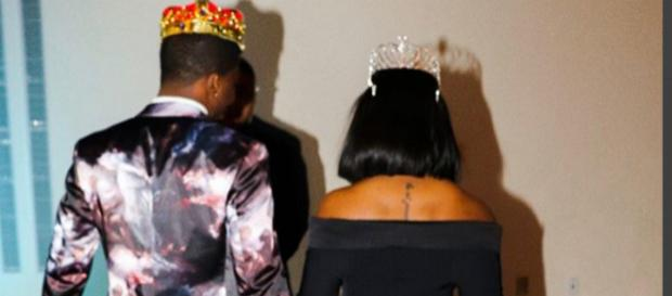 Reginae Cater and YFN Lucci crowned king and queen of InstaGala. [Image via Reginae Carter/Instagram]