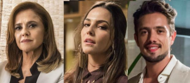 Sophia, Aura e Renato em ''O Outro Lado do Paraíso''