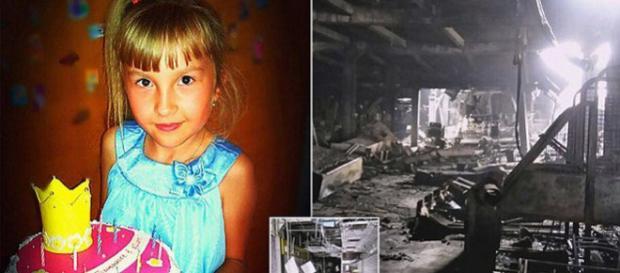 Vika, fetița care a sfârșit tragic în incendiul declanșat într-un centru comercial din Rusia - Foto: Daily Mail (www.dailymail.co.uk )
