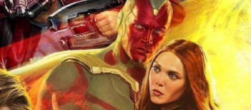 'Avengers: Infinity War': VISION Y LA BRUJA ESCARLATA